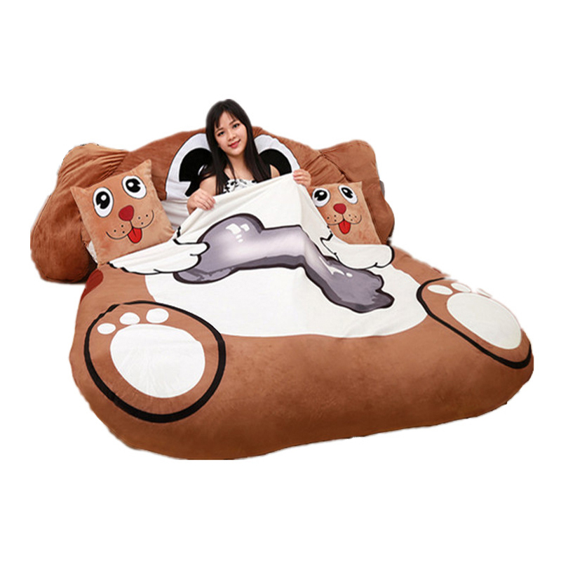 Fancytrader Cartoon Animal Dog Tatami Giant Stuffed Soft Beanbag Bed Carpet Mat Sofa карандаш для бровей touch in sol browza super proof gel brow pencil 2 цвет 2 choc it up variant hex name 924900