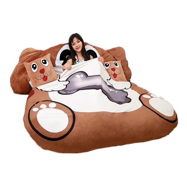 Fancytrader Cartoon Animal Dog Tatami Giant Stuffed Soft Beanbag Bed Carpet Mat Sofa