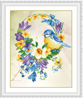 Newest Mosaic Handmade 5d Diy Diamond Painting Flowers And Birds Cross Stitch Home Decoration Wall Stickers
