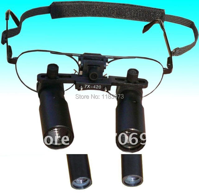 7X Binocular Type Dental Loupes 7 Times Medical Surgical Dentist Loupe Kepler Optical Magnifier Glasses With 6 Work Distance