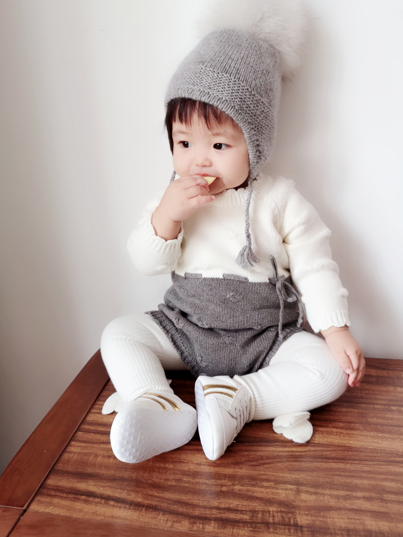 Image 4 - Baby Knitted Conjoined Clothes Autumn Kazakhstan 0 1 2 Years Old Childrens Sweaters  Farts And Climbing Baby BodysuitsBodysuits   -