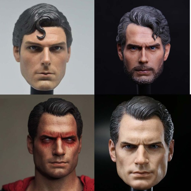 Mnotht Toy 1/6 Scale DC Superman Clark Kent Head Sculpt For Hot Toys Body action figure toys collections