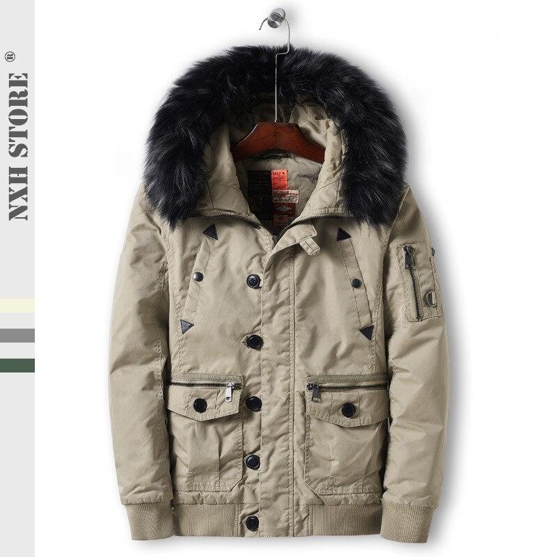 new styles 6033d 8f6d0 Cappuccio Nxh Lunghi Mens khaki green Grey Invernali ...