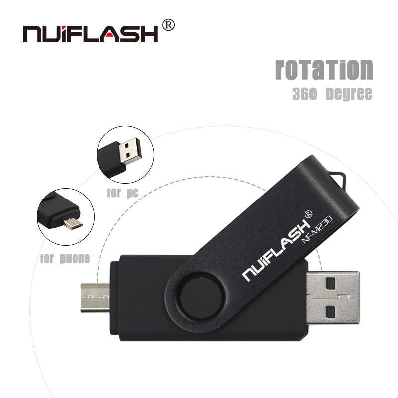 Smartphone Pendrive USB OTG Flash Drive cle usb 2,0 stick 64G otg pen drive 4g 8g 16g 32g 128G de dispositivos de almacenamiento