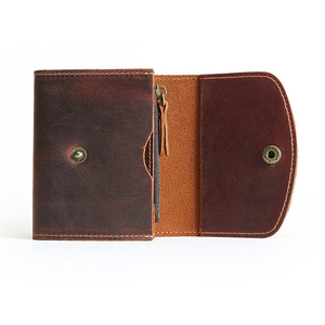 Image 3 - Coin Purse Men Wallets Genuine Leather Mini Purse with Zipper Pocket Slim Wallet Card Holder Small Change Pouch Male Billfold