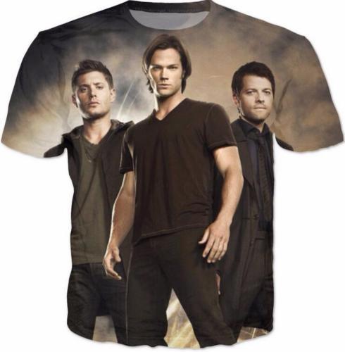Hip Hop Women/Mens t shirt Supernatural Sam Winch Short Sleeves 3D Print T-Shirt Summer Casual Clothes Top Tees Plus S-5XL R1418