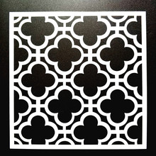 Free Shipping 15*15cm DIY Craft Art Stencil Template For Wall Tile Painting Scrapbooking Stamping Album Decor Embossing Card