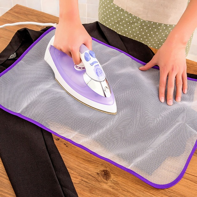 Heat Resistant Cloth Mesh Ironing Board Cover Protective Press Mesh Mat Ironing Pad Household Reticulated Insulation 40x60cm