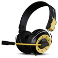 Fashion Comfortable Play Computer Game Headset Headphone Omnidirectional Heanset Microphone Earphone Long Life 2.4m Line
