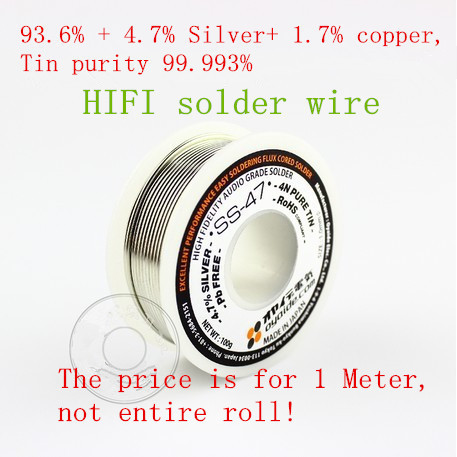Fever diy headphone SS-47 4N containing silver solder wire (price is for 1meter)