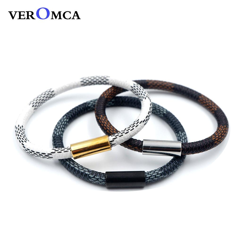 DSCF9051  VEROMCA Leather-based Bracelet Stainless Metal Bracelets Males Jewellery Excessive High quality Charms Bracelets jewellery Magnetic Bracelet HTB1V2epgRjTBKNjSZFNq6ysFXXa8