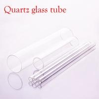 ¡1 piezas de cristal de cuarzo tubo 100mm de diámetro exterior Thk! aproximadamente 3mm, longitud 200mm/250mm/300mm, tubo de vidrio resistente a altas temperaturas