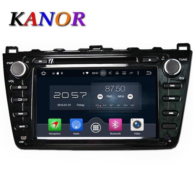 Kanor Octa core Android 6.0 2 г автомобильный DVD GPS для Mazda 6 Ruiyi ultra 2008 2009 2010 2011 2012 авторадио Мультимедиа Аудио стерео