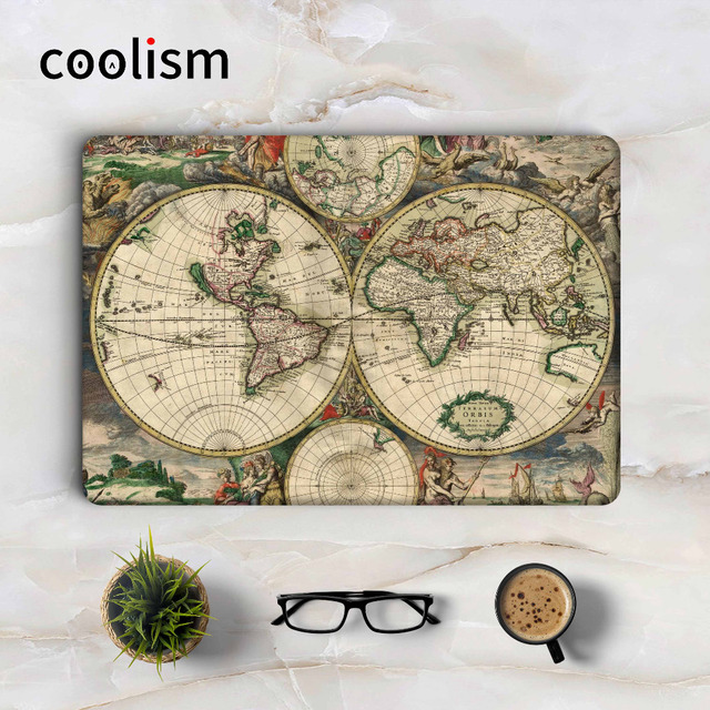 Antique world map laptop sticker decal for apple macbook pro air antique world map laptop sticker decal for apple macbook pro air retina 11 12 13 15 gumiabroncs Gallery