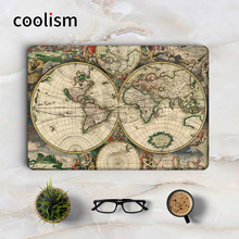 Antique World Map Laptop Sticker Decal for Apple Macbook Pro Air Retina 11 12 13 15 inch Mac HP Acer Protective Full Cover Skin