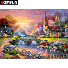 HOMFUN 5D DIY Diamond Painting Full Square/Round Drill House scenery 3D Embroidery Cross Stitch gift Home Decor Gift A08207 homfun 5d diy diamond painting full square round drill house scenery embroidery cross stitch gift home decor gift a08417