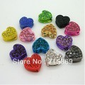 Free Shipping Wholesale 50pcs/lot Crystal Pave Disco Heart Bead Shamballa Jewellery Making Premium Quality Beading