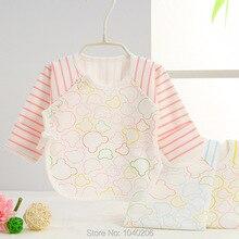 Boy рукав девочка baby ткань новорожденных теплый полный одежды топы детская