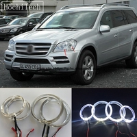 HochiTech Cree LED Chip Light Guide Angel Eyes Kit Halo Ring with Dimmer Fuction for Mercedes Benz GL Class X164 GL450 2007 2012