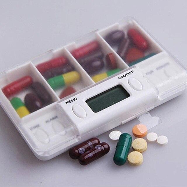 4 Grid Electronic Medicine Box with Alarm 5