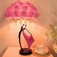 Creative wedding gifts table lamps wedding room reading lamp bedroom bedside lamp bestie couple decorative desk light ZA920502