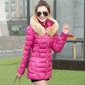 Mujeres abrigo de invierno 2016 del otoño nuevas mujeres capa gruesa de largo mujeres de talla grande invierno jaqueta feminina Slim fit chaqueta de invierno mujeres