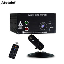 Atotalof 48 Padrão Remoto LED RGB Stage Luz/Som DJ Luz de Discoteca para Festa de Natal projetor Laser KTV Casa luz