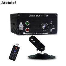 Atotalof led rgb 무대 조명 48 패턴 원격/사운드 dj 디스코 빛 ktv 홈 파티 크리스마스 레이저 프로젝터 빛