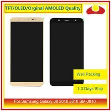 """Оригинальный 6,0 """"для Samsung Galaxy J8 2018 J810 SM J810, ЖК дисплей с сенсорным экраном, дигитайзер, Полная панель Pantalla"""