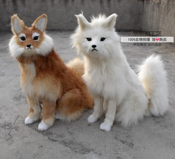simulation cute squatting fox 54x38x20cm model polyethylene&furs fox model home decoration props ,model gift d875 simulation animal large 28x26cm brown fox model lifelike squatting fox decoration gift t479