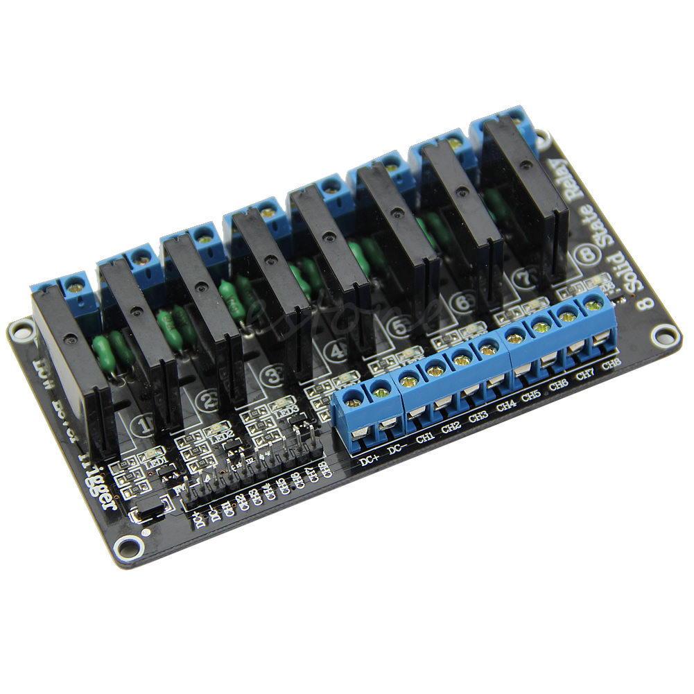 цена на 5V 8 Channel Low Level Trigger Solid State Relay Module with Fuse 250V2A