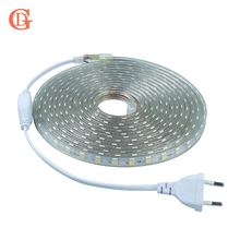 GD 1M 5M 10M 15M 20M LED Strip 220V 5050 SMD light AC220V IP67 Waterproof Outdoor Tape for Home Decor