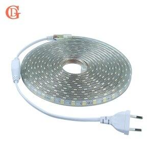 GD 1M 5M 10M 15M 20M taśmy LED 220V 5050 taśma LED SMD światła AC220V IP67 wodoodporny zewnętrzny LED taśma do domu pasek dekoracyjny światło