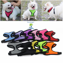 Permen Warna Soft Mesh Pet Dog Harness Rompi Keselamatan Adjustable Collar Untuk Dog Cat XS / XL