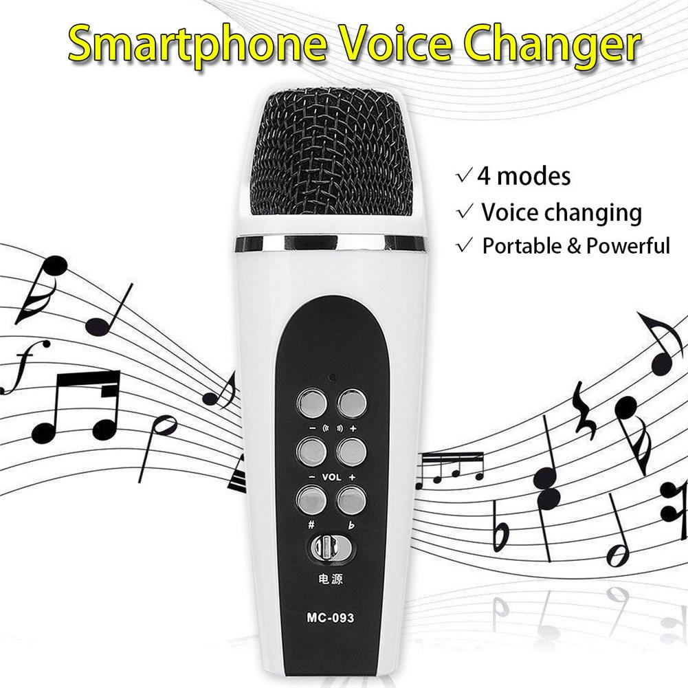 4-mode Voice Changer Microphone Smartphone Voice Changer Cellphone Voice Changer with Earphones For iphone Apple PC Android
