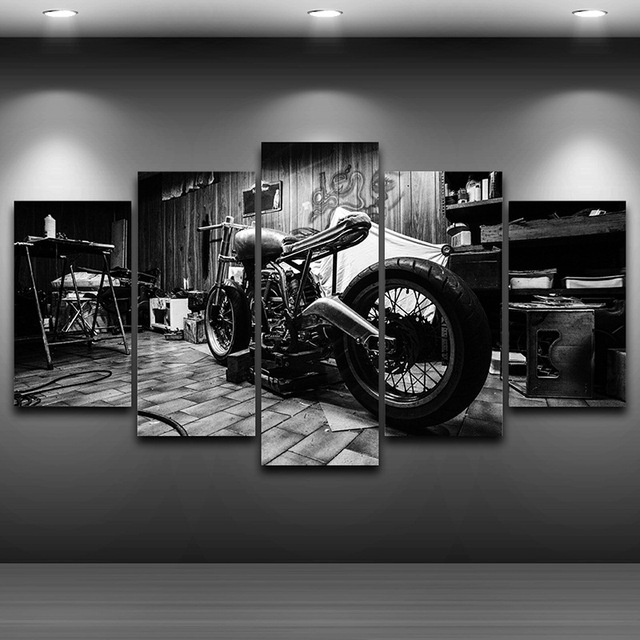 artistic motorcycle photography  Motorcycle Artistic Printed Drawing on Canvas Framed wall art ...