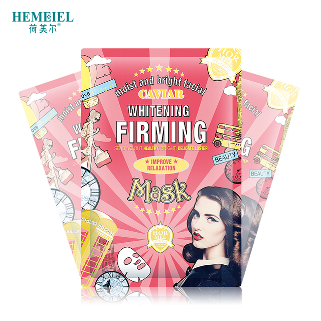 HEMEIEL Caviar Essence Firming Korean Face Mask Skin Care Moisturizing Anti Ageing Facial Mask Wrinkle Remove Whitening Mask 4