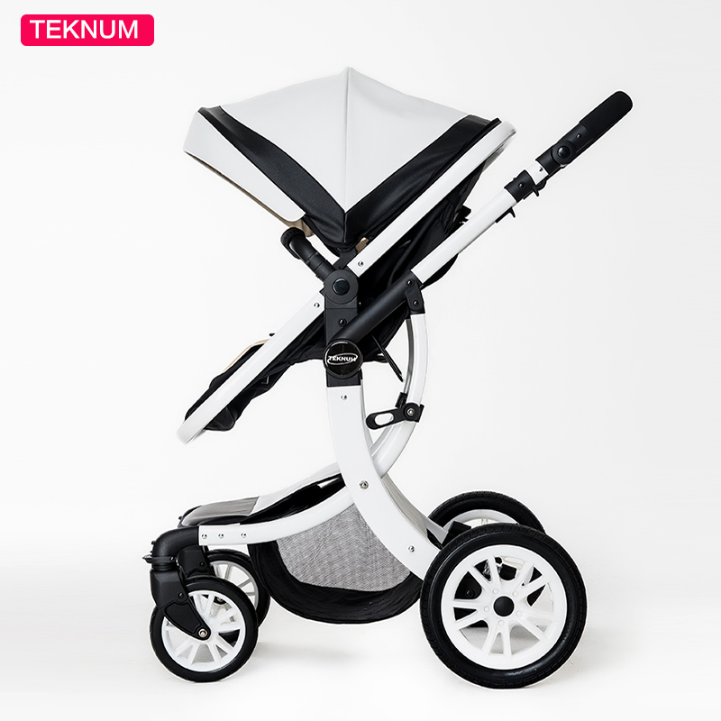Teknum 2 Dans 1 Haute Paysage X Conception Bébé Poussette nouveau-né bébé landau Six cadeau gratuit HK livraison gratuite 0- 3 année En Cuir bébé Landau