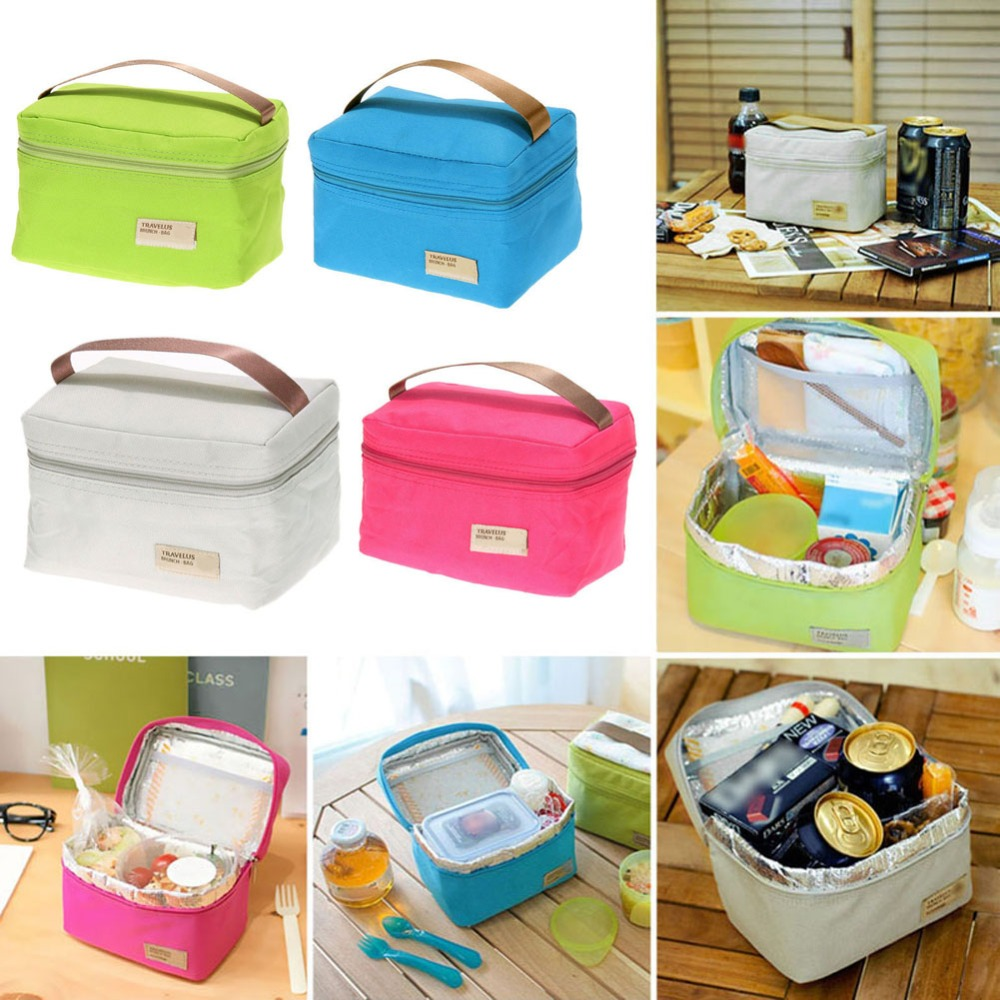 2017 1pcs portable insulated thermal cooler bento box tote picnic storage lunch bag in. Black Bedroom Furniture Sets. Home Design Ideas