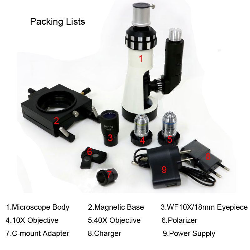 Image 5 - Polarizing Light Microscope Handheld Diagnost Equipment Portable Metallographic Microscope with Magnetic Base Polarizer-in Microscopes from Tools