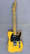1951 FD Relic handmade electric guitar  ash body yellow color 1951 fd relic handmade electric guitar ash body yellow color