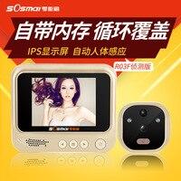 3 IPS Цифровой глазок Smart Двери Просмотра с Камера фото Функция охранных Ночное видение Дверные звонки обнаружения движения