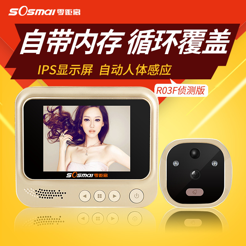 3 IPS Digital Peephole Smart Door Viewer With Camera Photo Function Home Security Night Vision Doorbell Motion Detection wireless door viewer 4 3inch hd touch screen auto voice reminder smart door peephole camera infrared night version f1426d