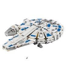 Lepin 05142 1584Pcs Звездные войны Kessel Run Тысячелетние сокола Наборы моделей Наборы для строительства Блоки Кирпичи Игрушки совместимые Legoing 75212
