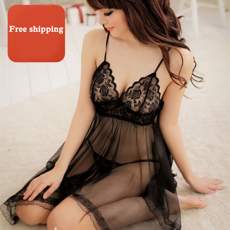Hot lace baby doll erotic lingerie for women temptation sexy open bust nightie with T panties ropa interior mujer erotica