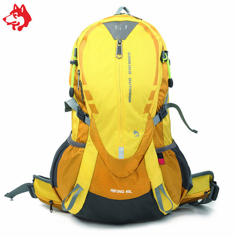 40L Men s Travel nylon outdoor sporting Backpack Bag Yellow Blue Green Red leisure adventure hiking