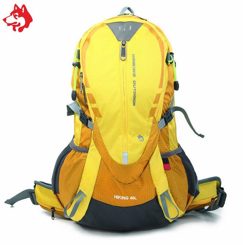 40L homme voyage nylon plein air sport sac à dos sac jaune/bleu/vert/rouge loisirs aventure randonnée camping sac à dos