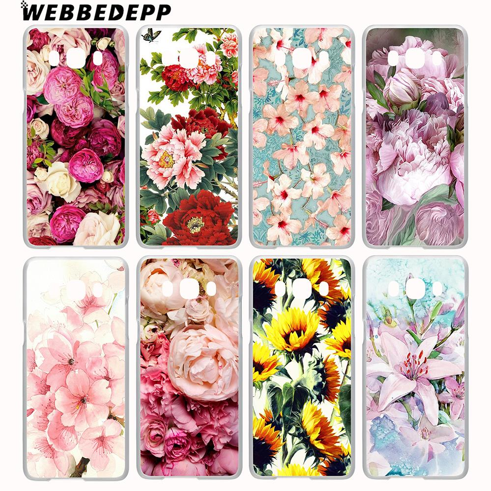 WEBBEDEPP Peony Sunflowe Rose Daisy Flower Case for Galaxy J3 J5 J1 2 J7 2015/2016/2017/ ...