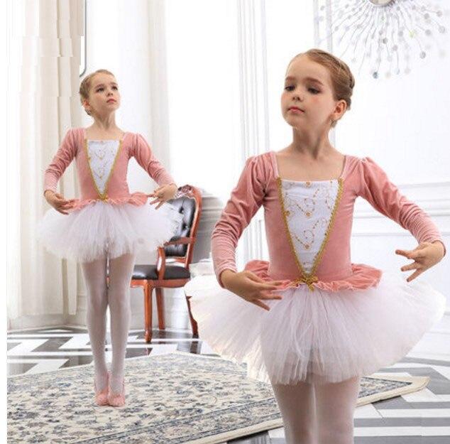 Ballet TUTU Dancewear Children Ballet Dresses For Girl Pink/Purple Swan Lake Ballet Costumes Summer Gymnastics Leotard For Girls