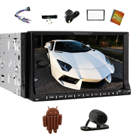 In Dash 2din Car Dvd Player GPS 7inch Android 4 4 HD Capacitive Car Stereo Support